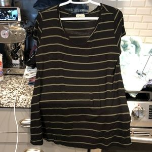 Black and olive green striped shirt